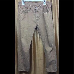 Levis 501 Kahki Brown Jeans